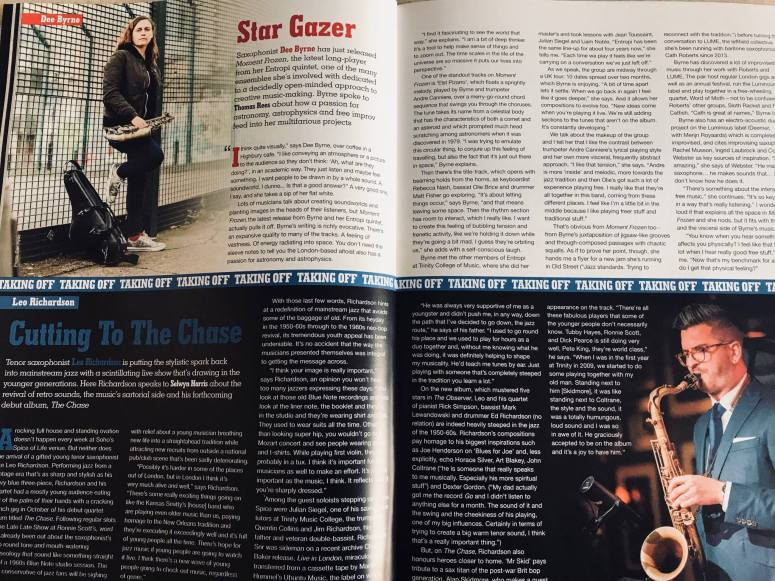 Dee Byrne Jazzwise feature